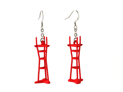 Sutro Tower Earrings - Free For Mind - 1