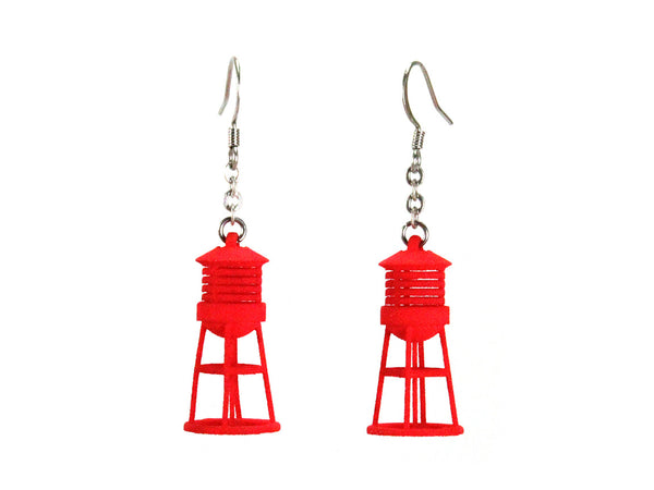 Water Tower Earrings - Free For Mind - 1