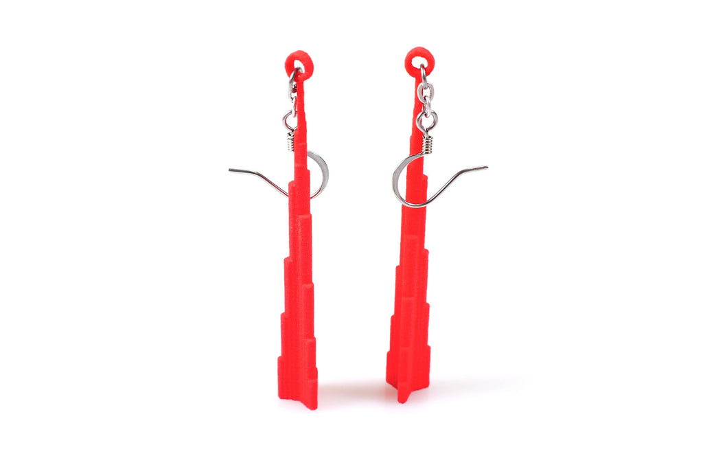 Burj Dubai Earrings - Free For Mind - 1