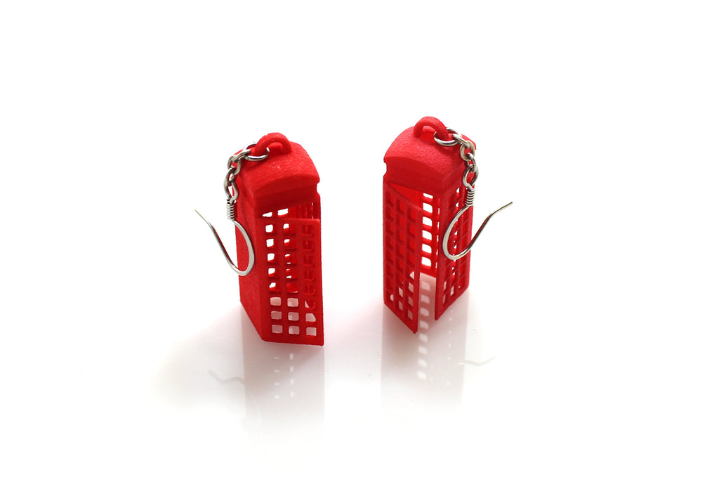 Phone Booth Earrings - Free For Mind