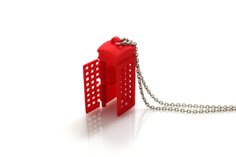 Phone Booth Necklace - Free For Mind - 1