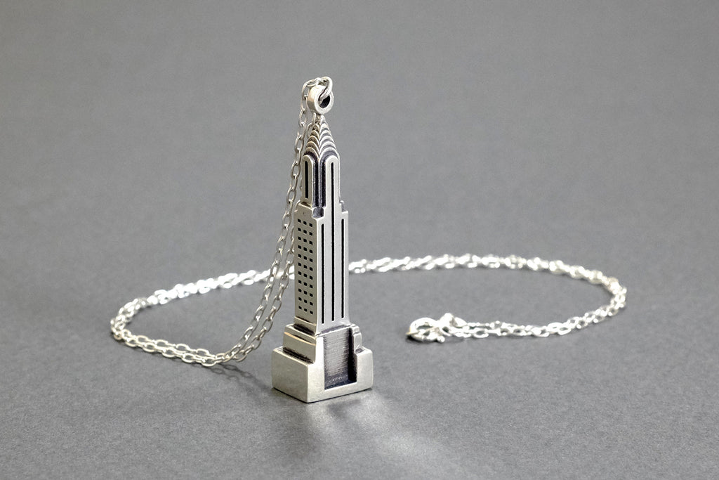 Chrysler Necklace - Sterling Silver - Free For Mind