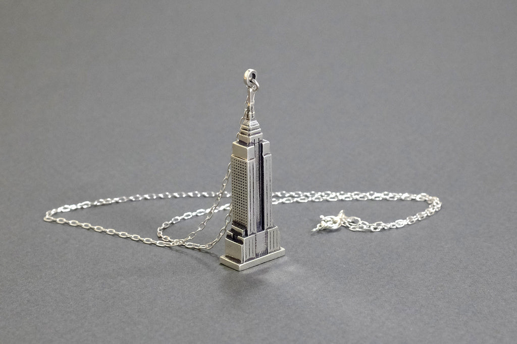 Empire State Necklace - Sterling Silver - Free For Mind