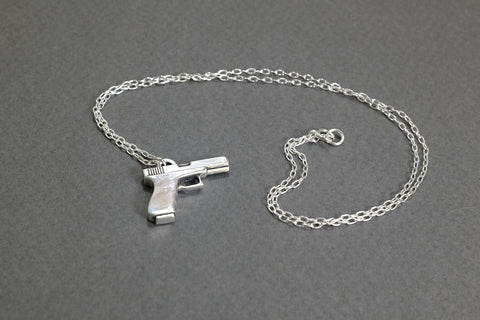Glock Necklace - Sterling Silver - Free For Mind