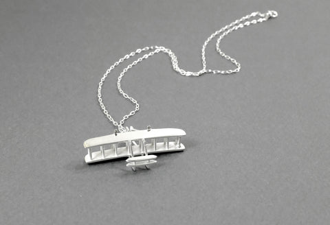 Wright Flyer Necklace - Sterling Silver - Free For Mind