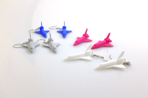 Space Shuttle Earrings - Free For Mind - 1