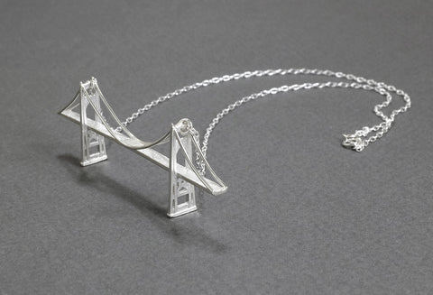 Saint Johns Bridge Necklace - Sterling Silver - Free For Mind