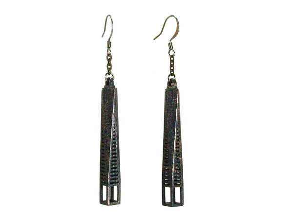 One World Trade-Inspired Earrings - Steel - Free For Mind - 2