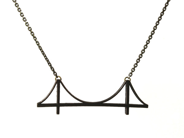 Golden Gate Bridge Necklace - Steel - Free For Mind - 2