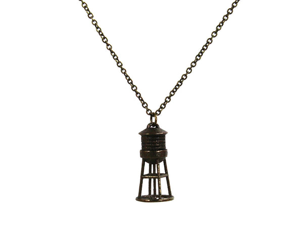 Water Tower Necklace - Steel - Free For Mind - 3