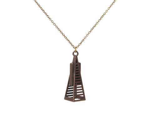 Transamerica Pyramid Necklace - Steel - Free For Mind - 1