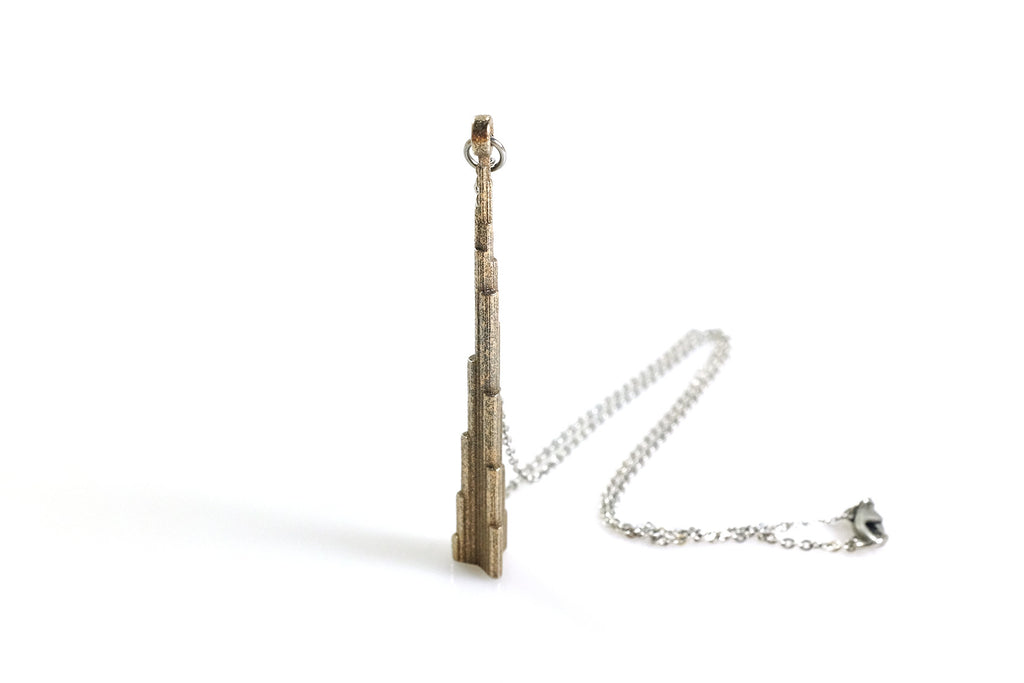 Burj Dubai Necklace - Steel - Free For Mind