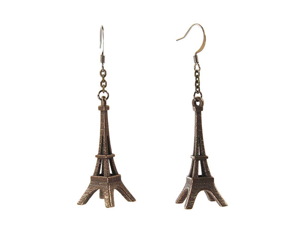 Eiffel Tower Earrings - Steel - Free For Mind - 2