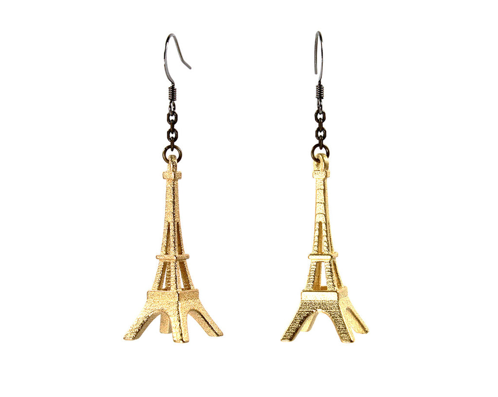 Eiffel Tower Earrings - Steel - Free For Mind - 1