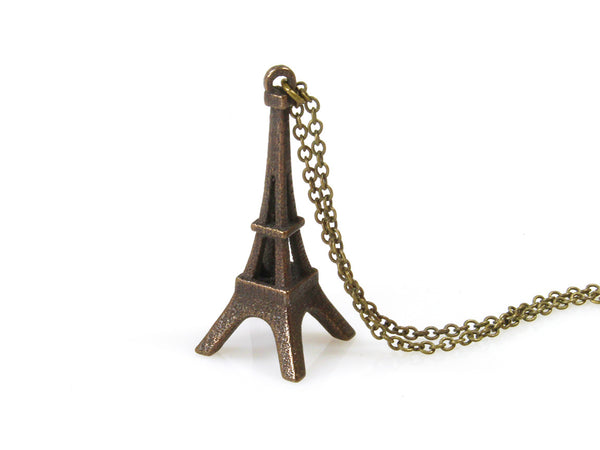 Eiffel Tower Necklace - Steel - Free For Mind - 3