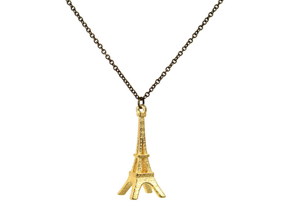 Eiffel Tower Necklace - Steel - Free For Mind - 1