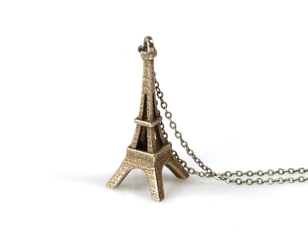 Eiffel Tower Necklace - Steel - Free For Mind - 2