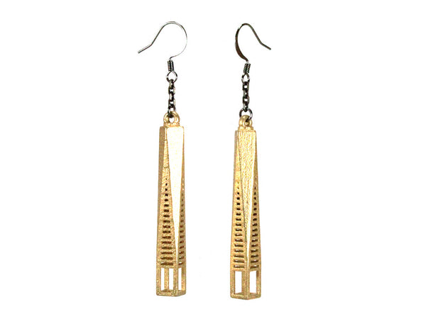 One World Trade-Inspired Earrings - Steel - Free For Mind - 3
