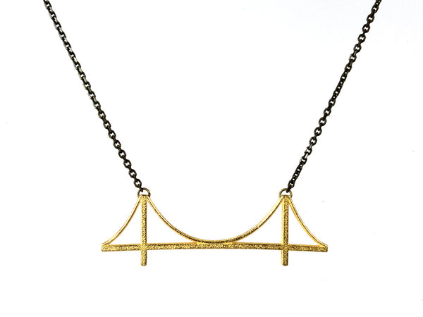 Golden Gate Bridge Necklace - Steel - Free For Mind - 4