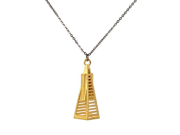 Transamerica Pyramid Necklace - Steel - Free For Mind - 2
