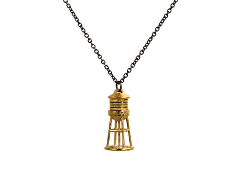 Water Tower Necklace - Steel - Free For Mind - 1