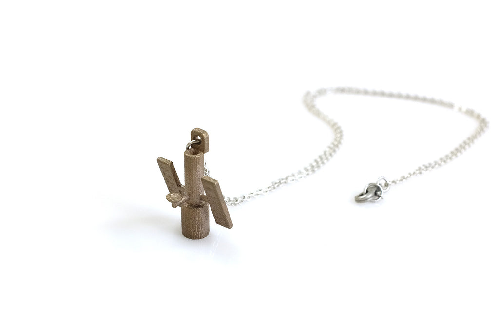 Hubble Telescope Necklace - Steel - Free For Mind