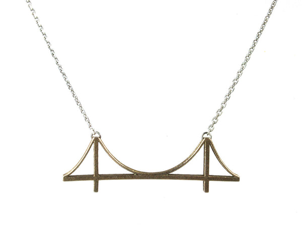 Golden Gate Bridge Necklace - Steel - Free For Mind - 6