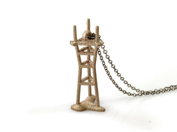 Sutro Tower Necklace - Steel - Free For Mind - 2