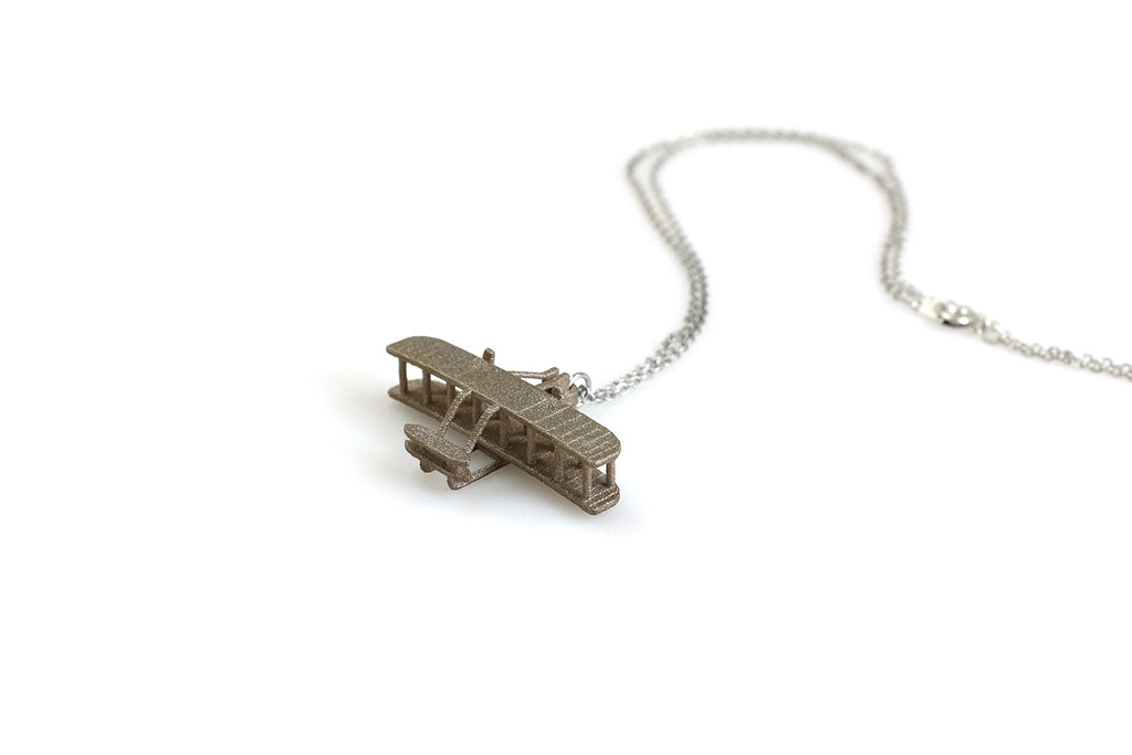 Wright Flyer Necklace - Steel - Free For Mind