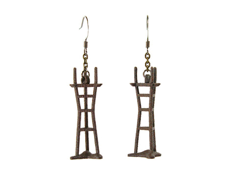 Sutro Tower Earrings - Steel - Free For Mind - 1