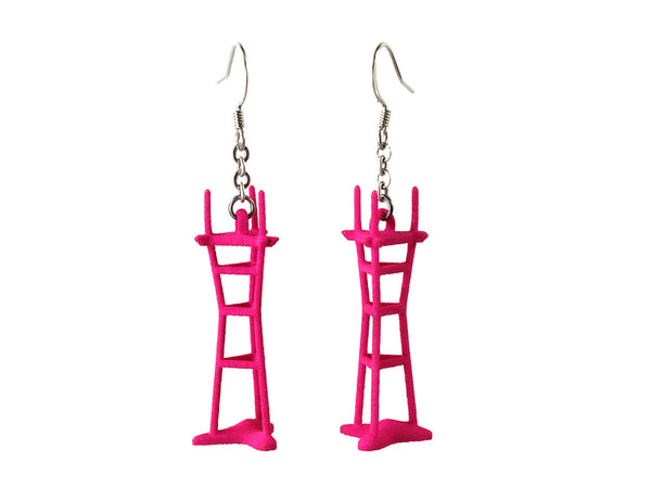 Sutro Tower Earrings - Free For Mind - 4