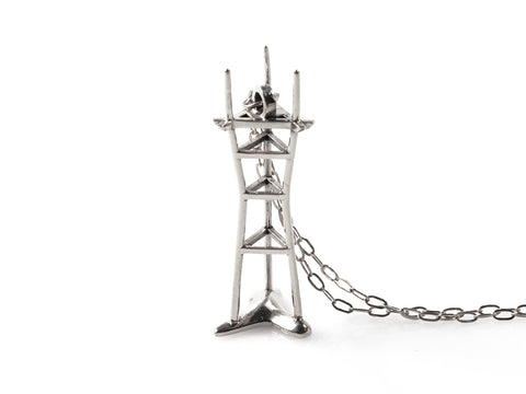 Sutro Tower Necklace - Sterling Silver - Free For Mind