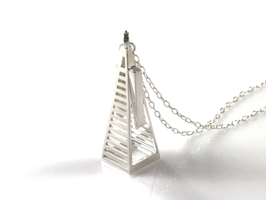 Transamerica Pyramid Necklace - Sterling Silver - Free For Mind