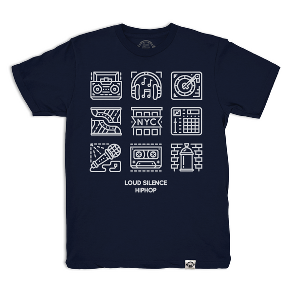 Hip Hop Glyphs (Navy Blue)