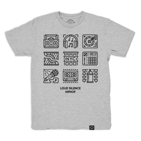 Hip Hop Glyphs (Heather Gray)