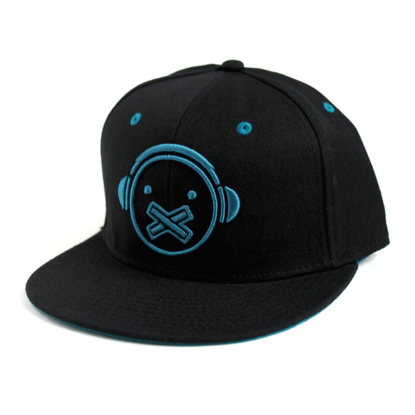 Silent Face Icon Hat (Black/Teal)