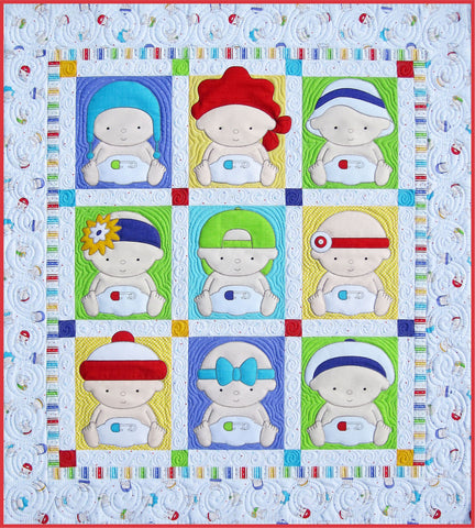 Nine Block Babies Pattern & Fabric Kit