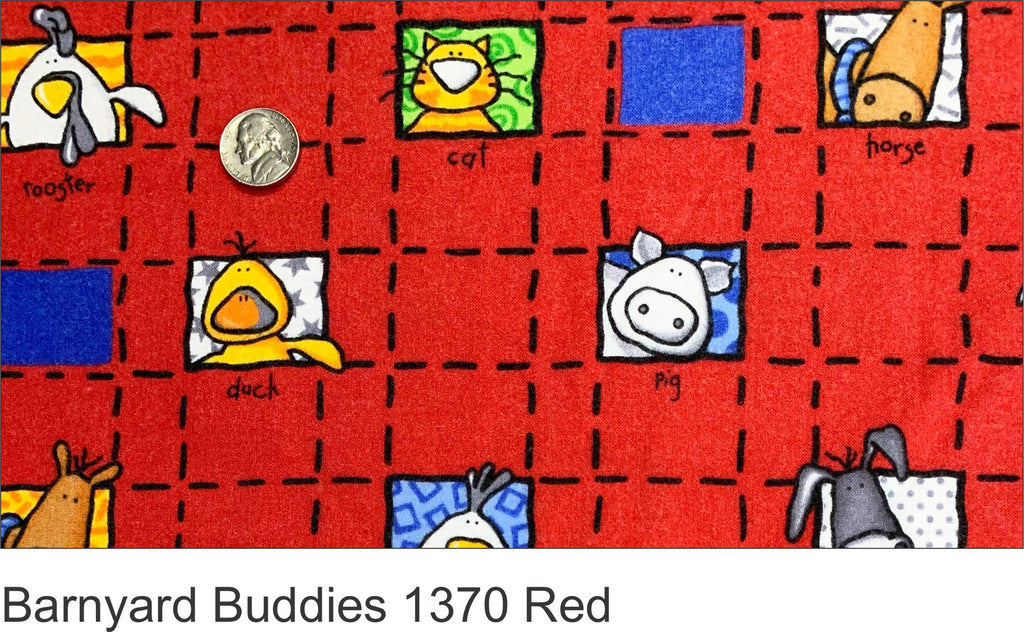 Barnyard Buddies 1370 Red Flannel
