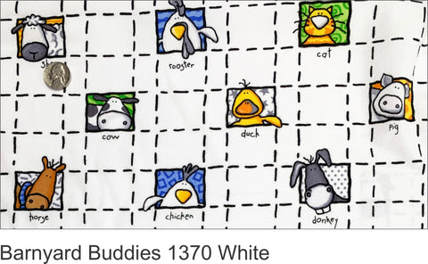 Barnyard Buddies 1370 White Flannel