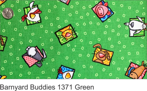 Barnyard Buddies 1371 Green Flannel