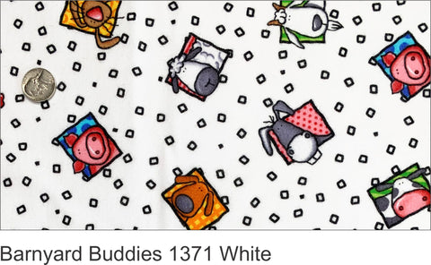 Barnyard Buddies 1371 White Flannel