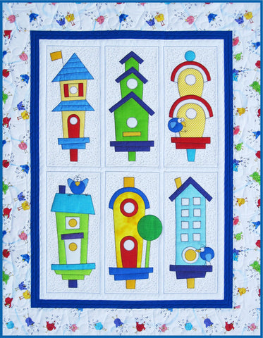 Six Block Birdhouse Quilt