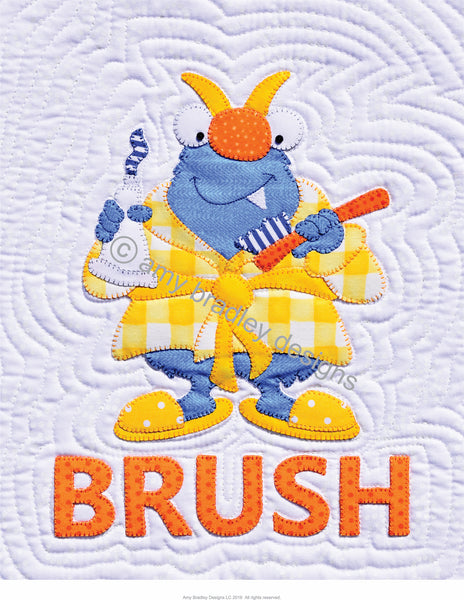 Orange Brush Print