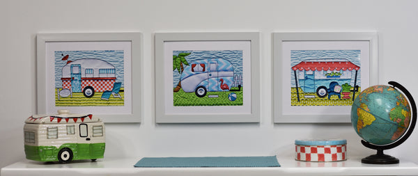 Campers Block Two Print