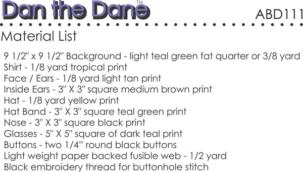 Dan the Dane Paper Pattern