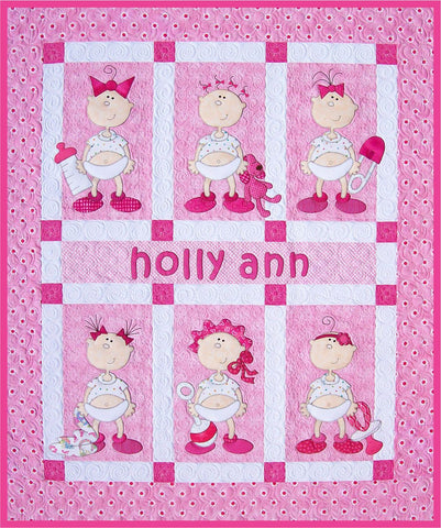 """Holly Ann"" Funny Babies Quilt"