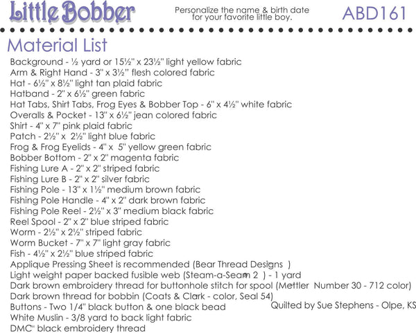 Little Bobber Block Pattern