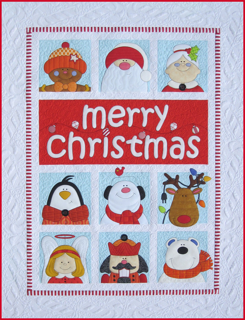 Christmas Quilt Patterns.Merry Christmas Download Pattern