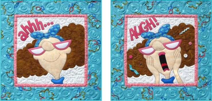 Ms. Moody set of Two Wallhangings