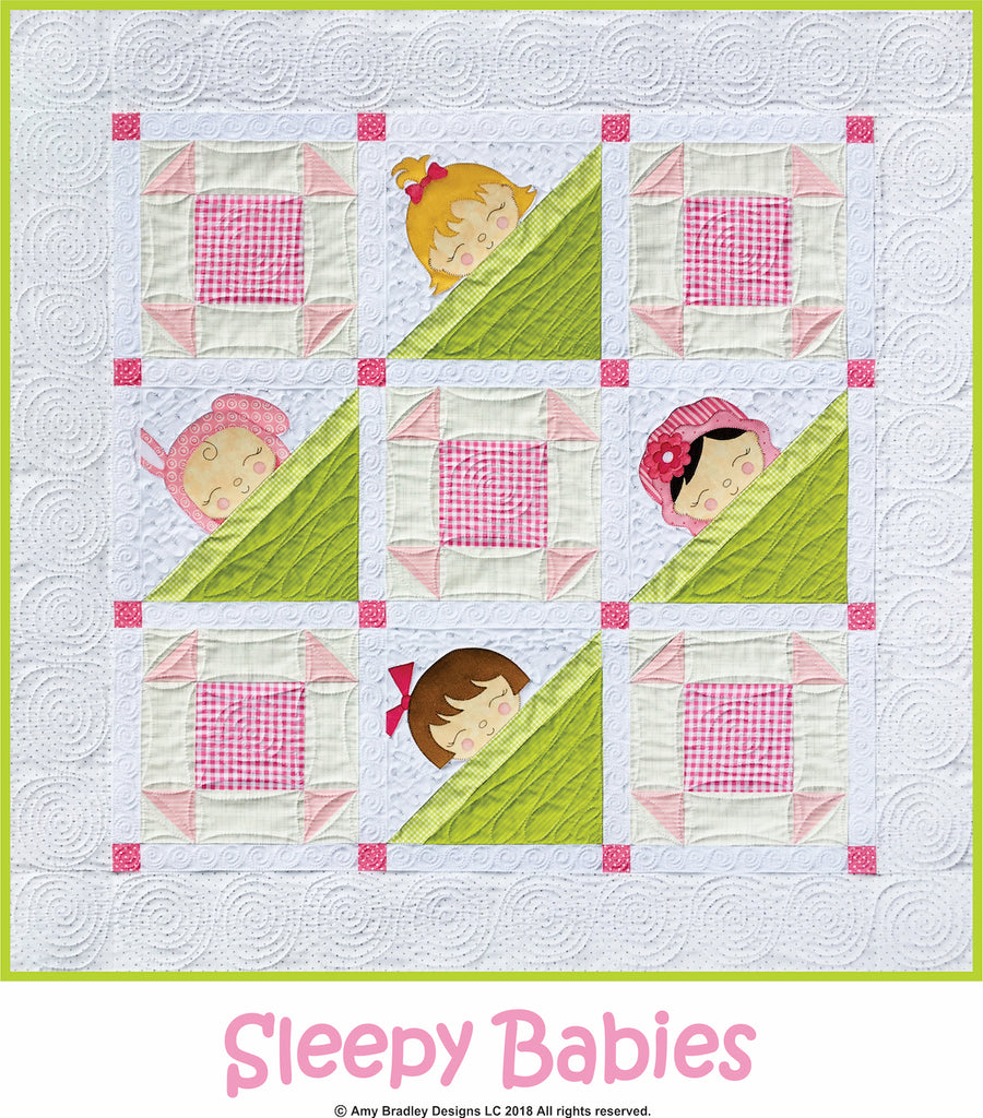 Baby Quilt Patterns.Sleepy Babies Quilt Pattern Amy Bradley Designs